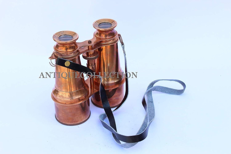ANTIQUECOLLECTION Nautical Copper Brass 双眼鏡 6インチ   B07HM3LBLK