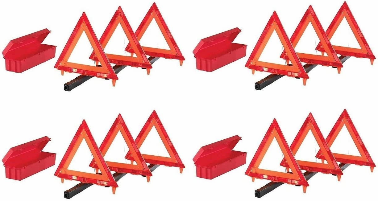4 Kits Cortina 95-03-009 3 Piece Triangle Warning Kit