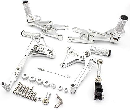 Motorcycle Rearsets Cnc Adjustable Rear Footrest Foot Rest Set For Benelli Tnt 125 135 Tnt125 Tnt135 Bj125 2016 2017 2018 2019 2020 Silver Auto