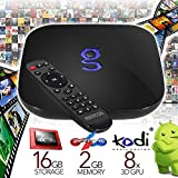 Newest Matricom G-Box Q2 Quad/Octo Core XBMC/Kodi Android TV Box [2GB/16GB/4K] (Rev 1.2+) With HDMI CABLE & FREE WIFI DONGLE PACKAGE