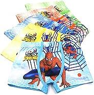 3-8 Years Boys Spiderman Boxer Briefs Cotton Character Underwear,5 Pack