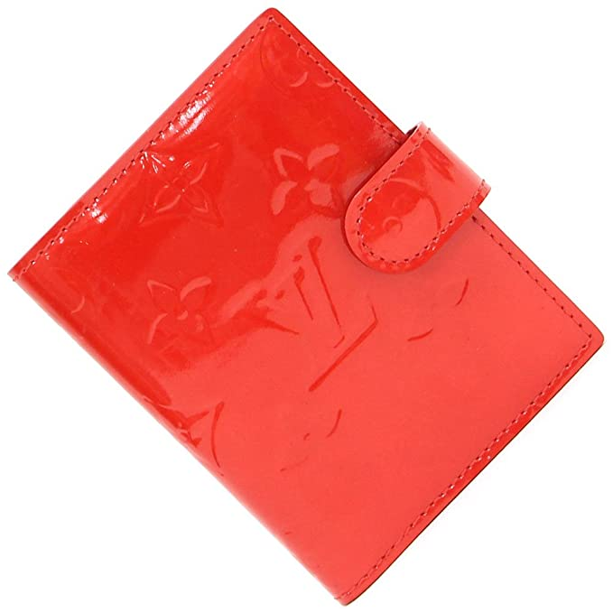4f06400cd825 LOUIS VUITTON(ルイヴィトン) 手帳カバー モノグラムヴェルニ アジェンダミニ ルージュ 中古 赤 システム