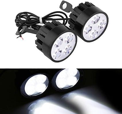 2 focos led para motocicleta, 12 V, 24 W, 4 led, universal ...