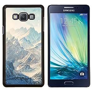YiPhone /// Prima de resorte delgada de la cubierta del caso de Shell Armor - Montañas Nieve Nubes Invierno Blanca - Samsung Galaxy A7 A7000
