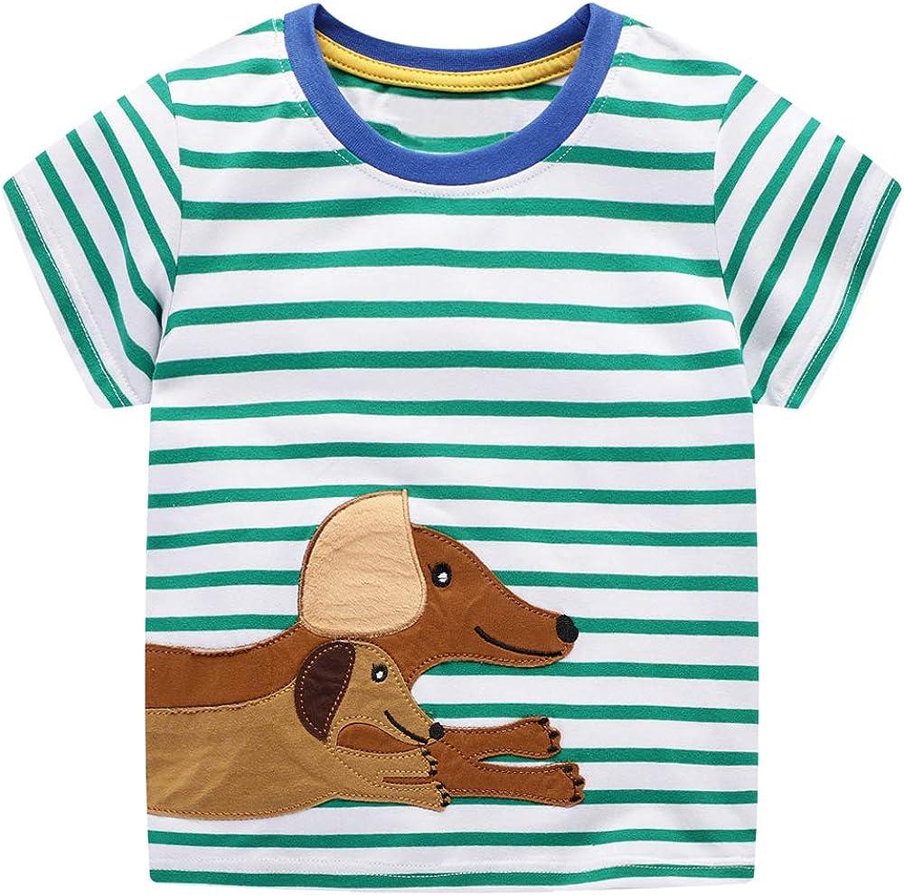 Zetiy Little Girls 2 Pieces Cat Pattern T Shirts Shorts Sets