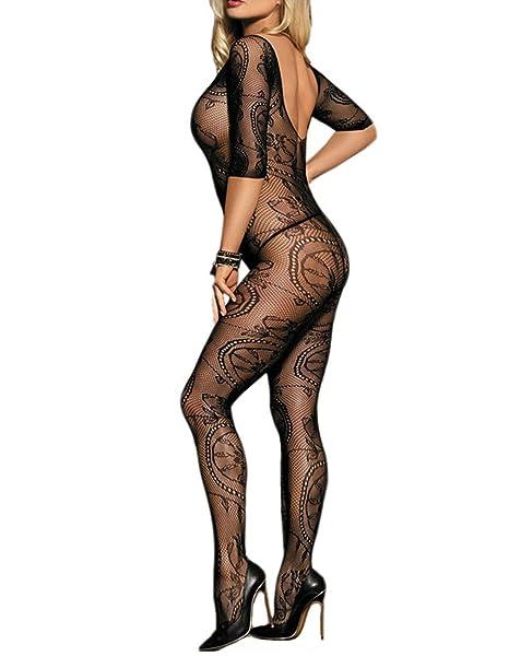 adc7165d804 Fishnet Bodystockings Women Sexy Half Sleeve Mesh Lingerie Clubwear Fit  S-XXL