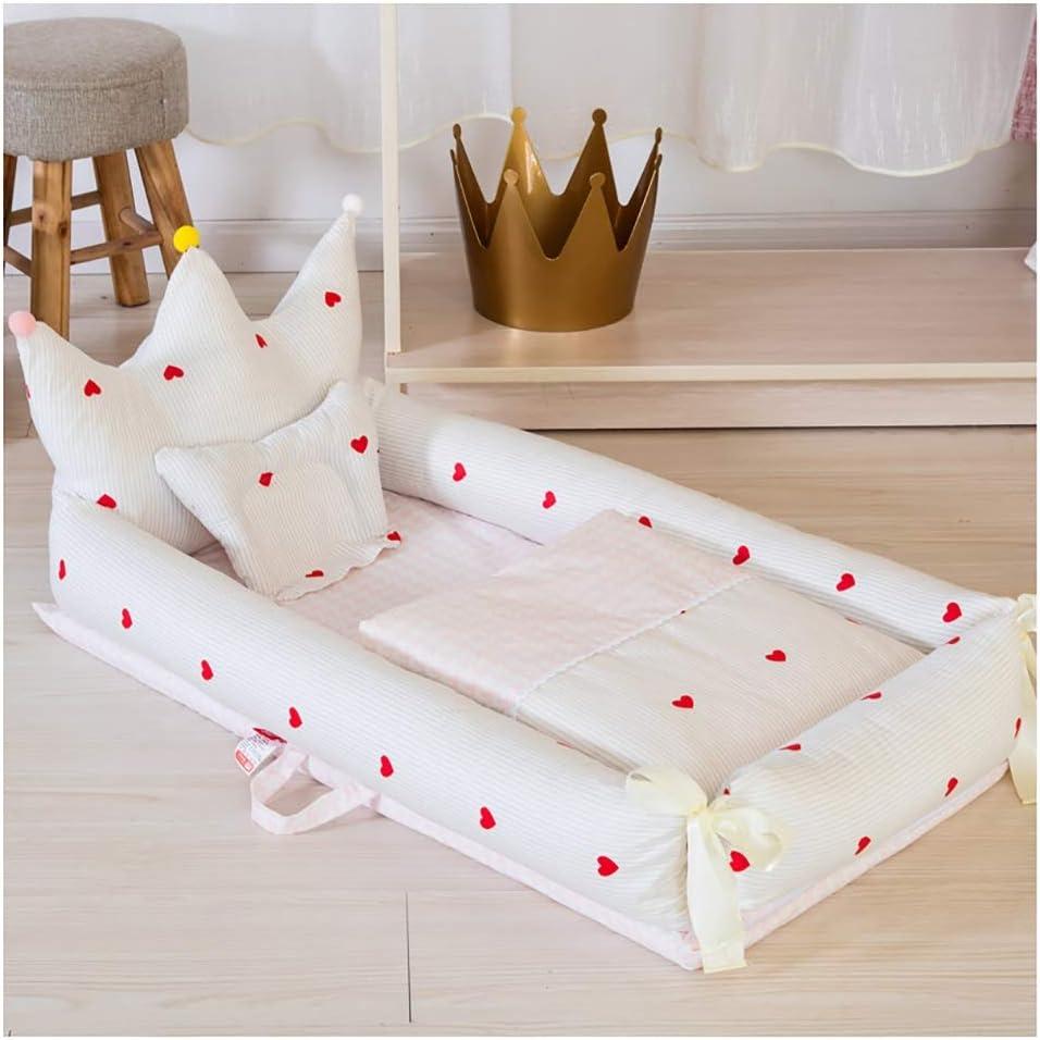 J-ベビーベッド ポータブル ベビーベッド 折り畳み式ベビーベッド 旅行する ポータブル 折りたたみ 枕付き 多機能ベッド 折りたたみベッド (Color : C)