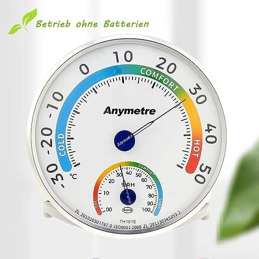 Hygrometer Thermometer Zimmerthermometer 10 cm Durchmesser