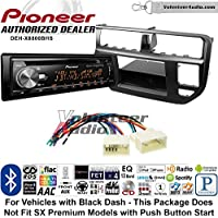 Volunteer Audio Pioneer DEH-X8800BHS Double Din Radio Install Kit with Bluetooth, HD Radio, Siruis XM Ready, USB/AUX Fits 2012-2014 Kia Rio (Black)