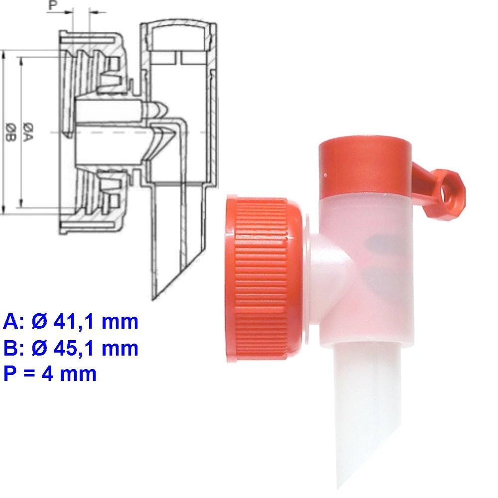 Dosierhilfe Profi Power DIN 45 Abfüllhahn für 5 L, 10 L Kanister Sabeu