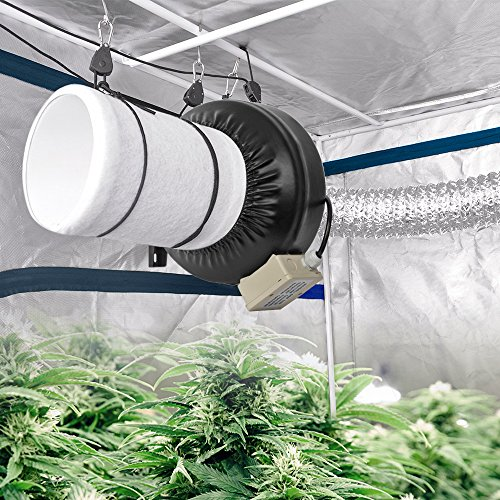 Duct Fan In An Enclosure : Amagabeli inch inline duct fan cfm for hydroponic