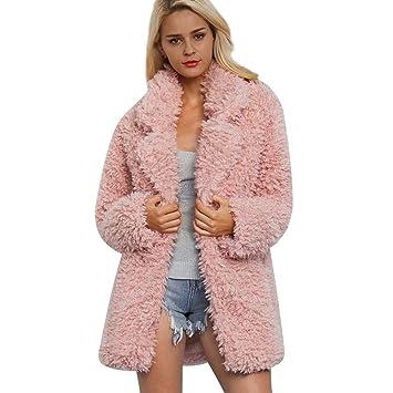 905e1c015ad60 Saihui_Women Coats & Jackets Femme à Longs Poils Longs Fausse Fourrure  Manteau Veste pour Chien à
