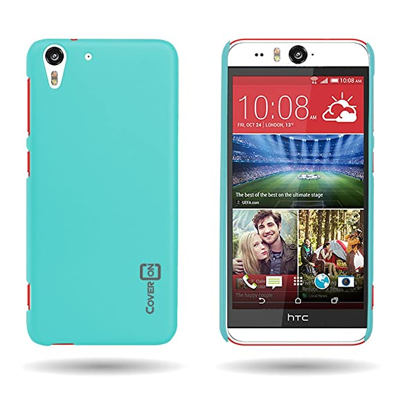 best authentic 2c9d3 87603 HTC Desire Eye Case (Teal) CoverON 1pc Slim Protective Hard Rubberized  Phone Cover for HTC Desire Eye