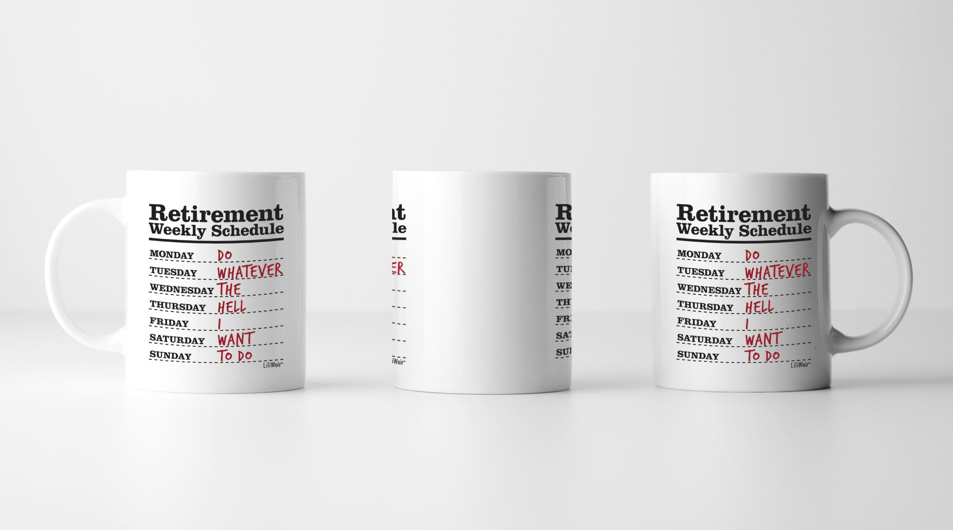 Funny Retirement Gifts for Women Men Dad Mom. Retirement Coffee Mug Gift. Retired Schedule Calendar Mugs for Coworkers Office & Family. Unique Novelty Ideas for Her Nurses Navy Air Force Military Gag by LiliWair (Image #3)