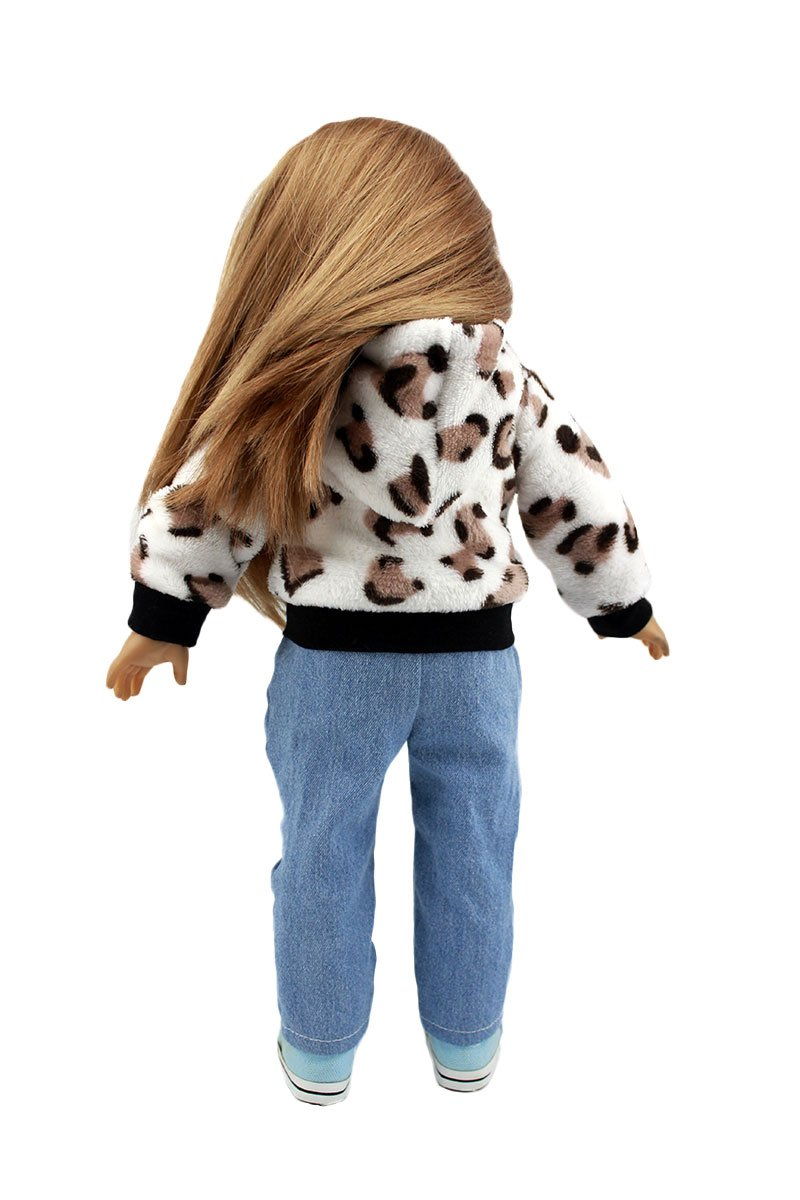 Wesen Doll Clothes For 18 Inch Dolls The cow pattern Coat with jeans Fits American Girl Dolls