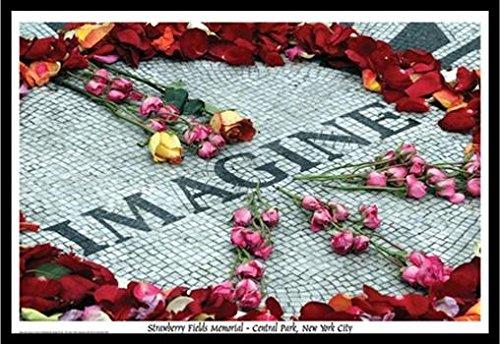 FRAMED Imagine John Lennon Strawberry Fields Memorial - Cent
