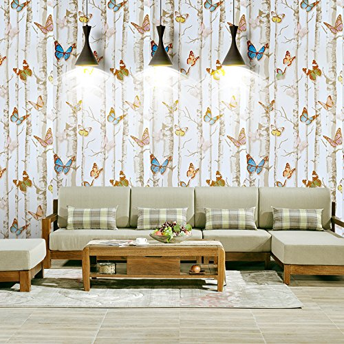 Long Needle 30' (yazi Colorful Butterfly Contact Paper Decorative Vinyl Self Adhesive Shelf Drawer Liner Wall Sticker 17.7inch Width by 30feet Length)