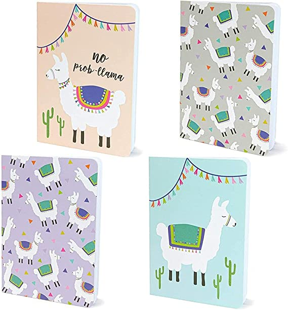 Mini Llama Journal Notebooks, Party Favors