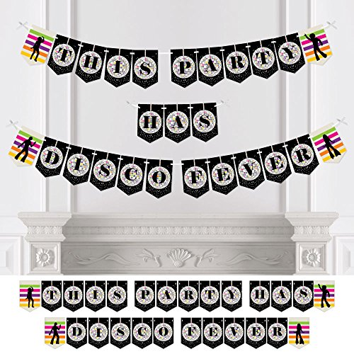 Big Dot of Happiness Custom 70s Disco - Personalized Disco Fever Bunting Banner & Decorations - 1970s Party Custom -