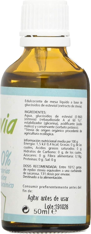 Nysbo Stevia Liquida 50 ml - 1 Unidad: Amazon.es: Salud y ...
