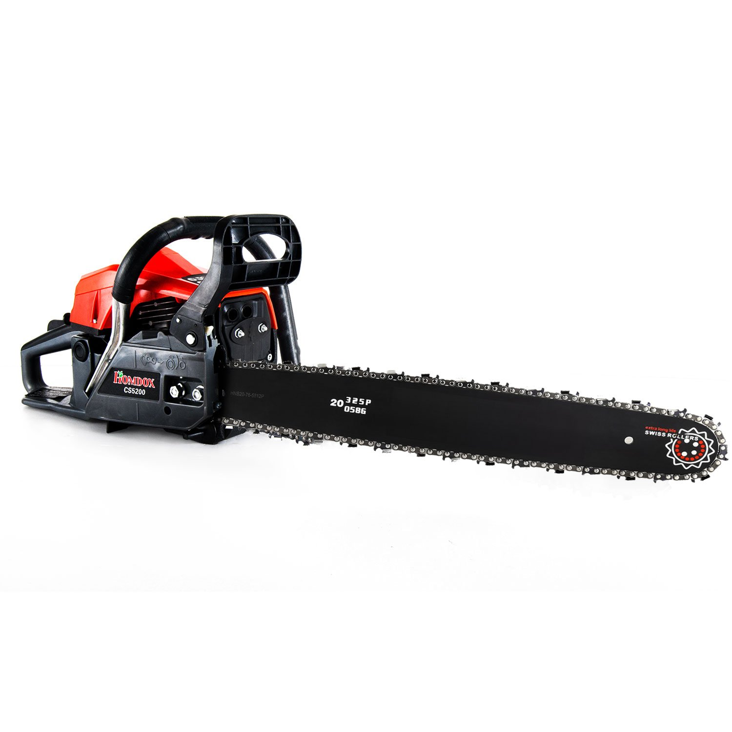 Meditool 20 3hp 52cc Gas Chainsaw With Kw Engine Husqvarna 325 Diagram Low Kickback And Quick Start Garden Outdoor