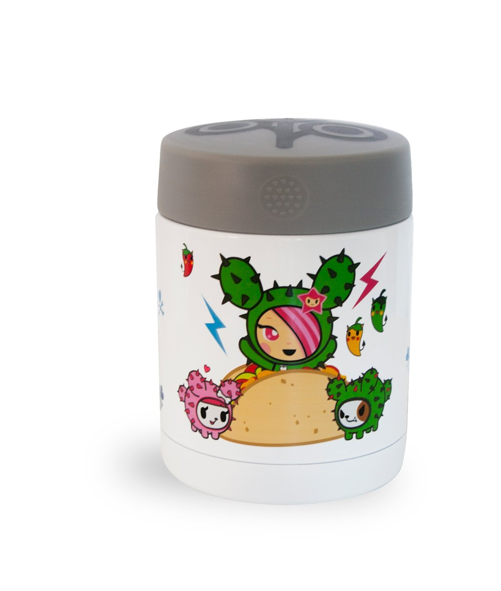 Zoli Dine Stainless Steel Vacuum Insulated Food Jar, Tokidoki Maxx JellyBean/First Steps ZL-BF16SSTKM1