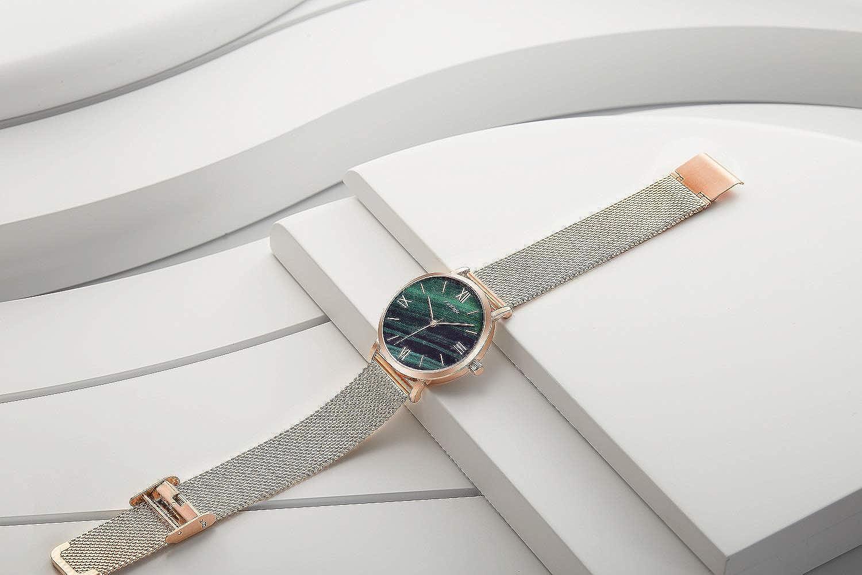 Amazon.com: SINOBI Creative Design Simplicity Women Watch Elegant Diamond Mesh Band Women Watches Ladies Wristwatch (S9709L-Green-Mesh Band): Watches