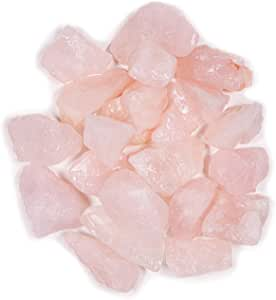 Crystal Allies 3 Pound Bulk Rough Rose Quartz Reiki Crystal Healing Stones Large 1""
