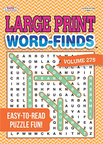 Large Print Word-Finds Puzzle Book-Word Search Volume 275