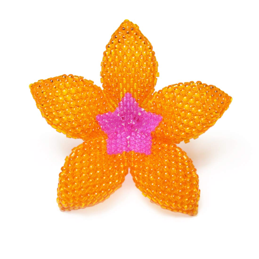Heart in Hawaii 2-inch Beaded Plumeria Flower Brooch Over 30 Color Choices