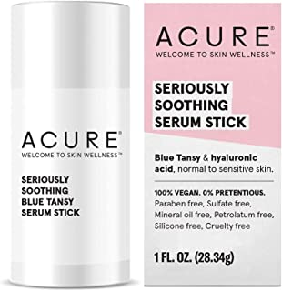 product image for ACURE Seriously Soothing Serum Stick | 100% Vegan | For Dry to Sensitive Skin | Blue Tansy & Hyaluronic Acid - Soothes & Hydrates | 1 Oz