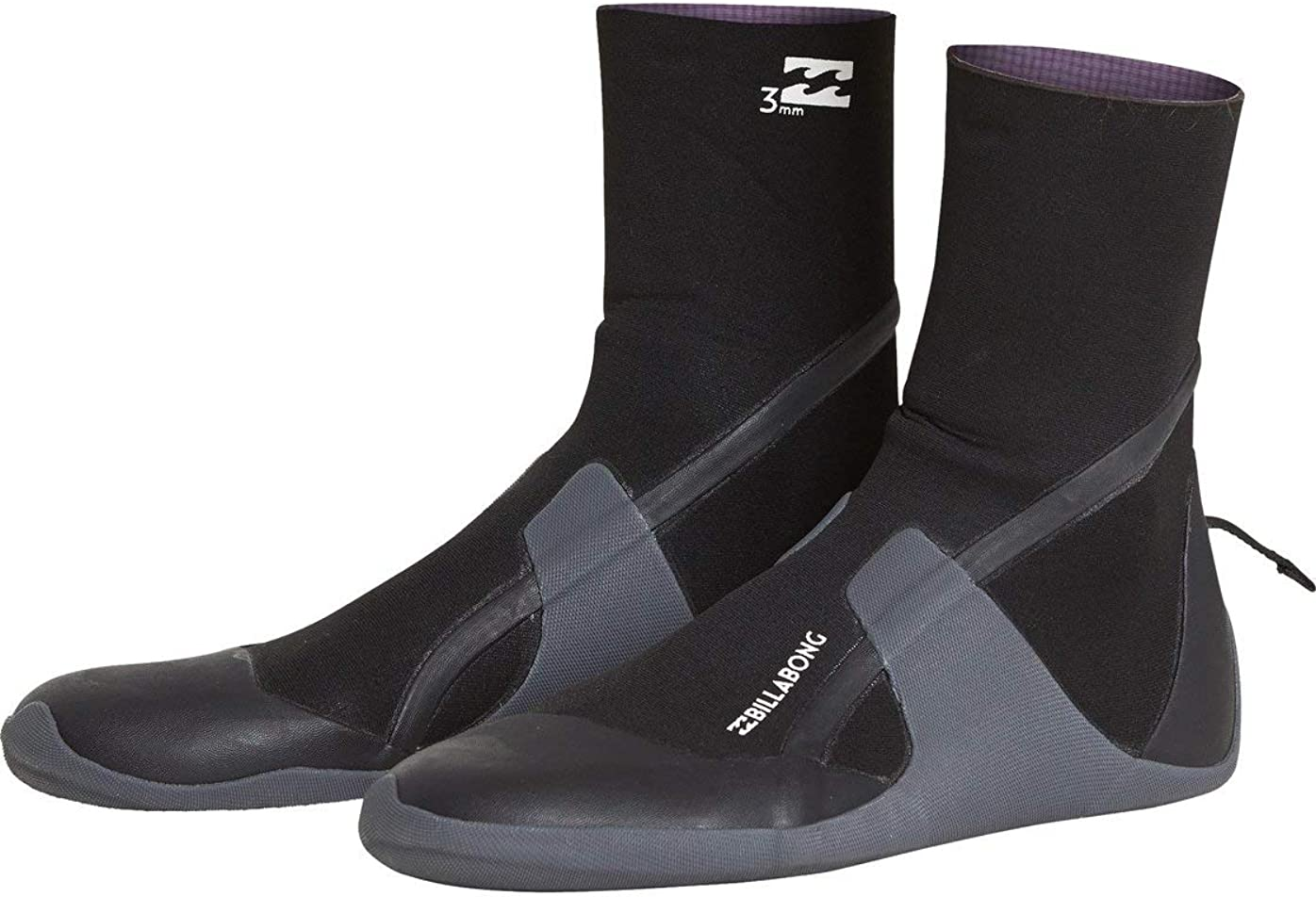 BILLABONG Absolute 5mm Round Toe Wetsuit Boot Boots Black Unisex Thermal Warm Heat Layer Layers Easy Stretch