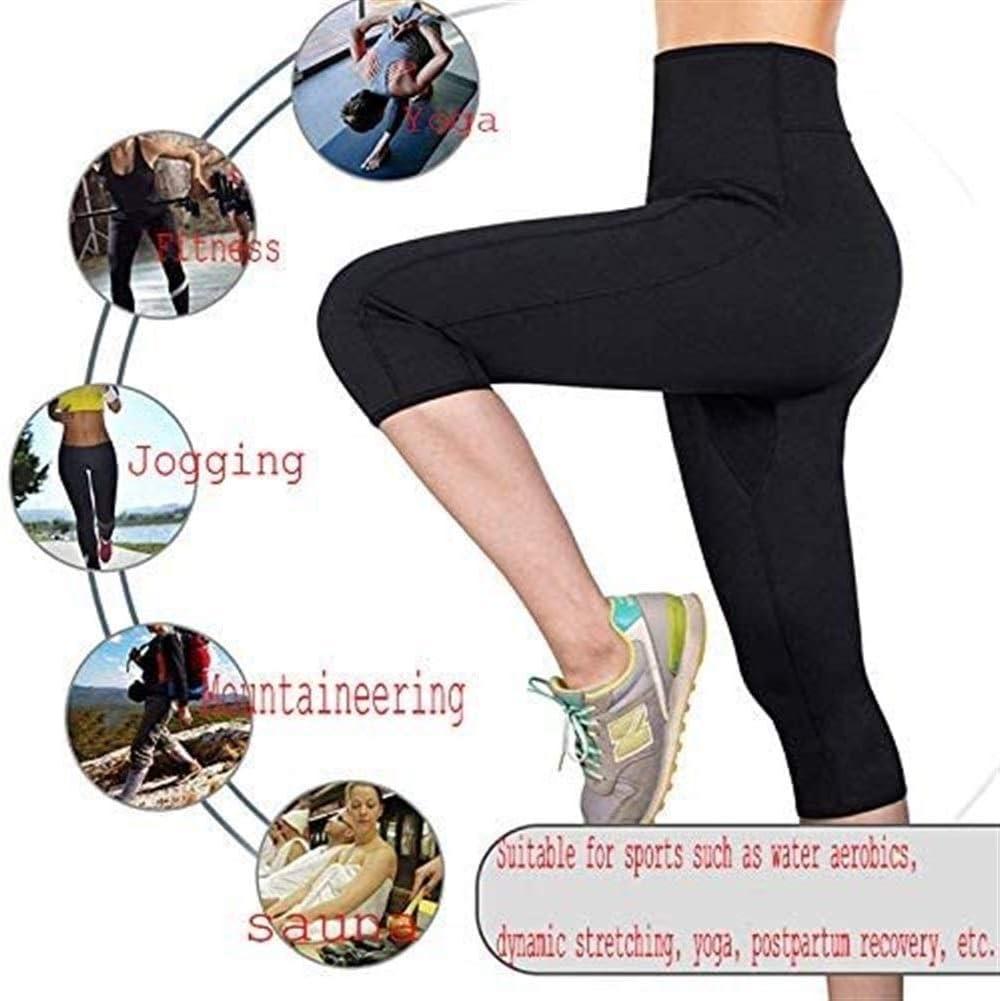 Damen Fitness Sport Thermo Neopren Schwitzhose Hüfttrainer Taillen Bauchgürtel