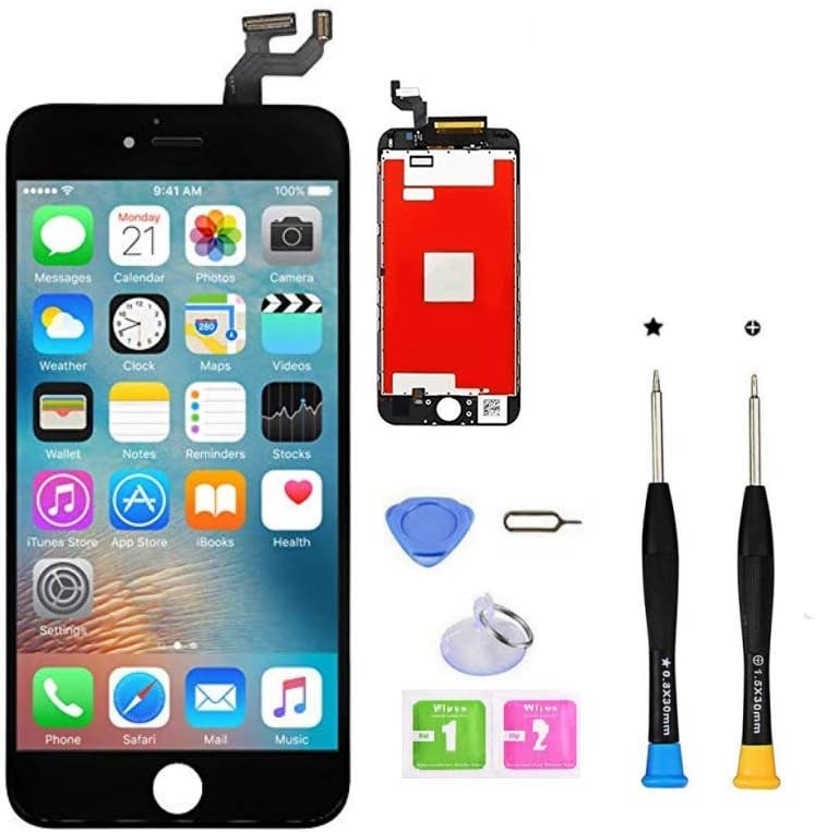 CLWHJ Premium Screen Replacement Compatible with iPhone 6s Plus 5.5 inch Full Assembly -LCD Touch Digitizer Display Glass Assembly with Tools, Fit Compatible with iPhone 6s Plus (Black)