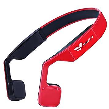 Auriculares de Conducción Osea, SAVFY® Auriculares de Soporte Bluetooth 4.0 Estéreo Sans Fil Manos Libres para todos los Dispositivos con Bluetooth, ...