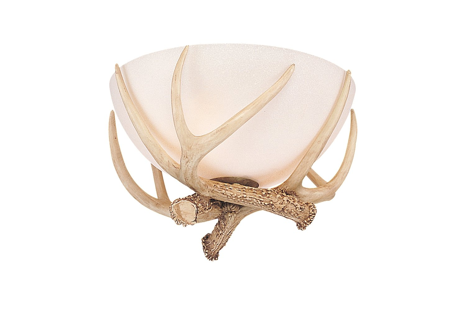 Monte carlo mc79 3 light antler bowl kit antique white scavo monte carlo mc79 3 light antler bowl kit antique white scavo amazon aloadofball Choice Image