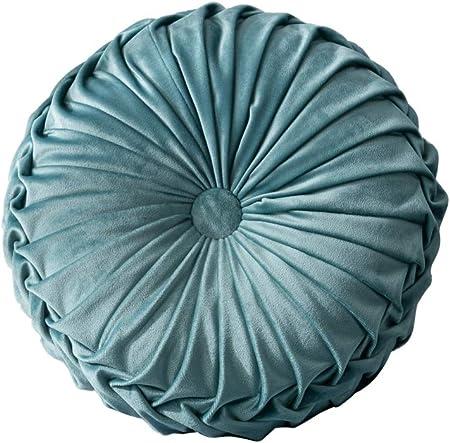 Alta calidad: relleno de poliéster (algodón PP) y funda de tela de terciopelo hacen que este cojín r