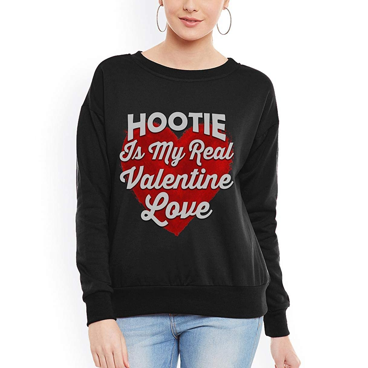 Hootie is My Real Valentine Love Valentines Day Women Sweatshirt tee