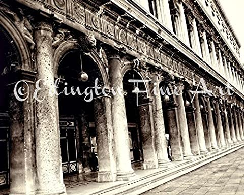 Venice Italy Architectural Photo Urban Decor 5x7 inch Print - Sepia Photo Print