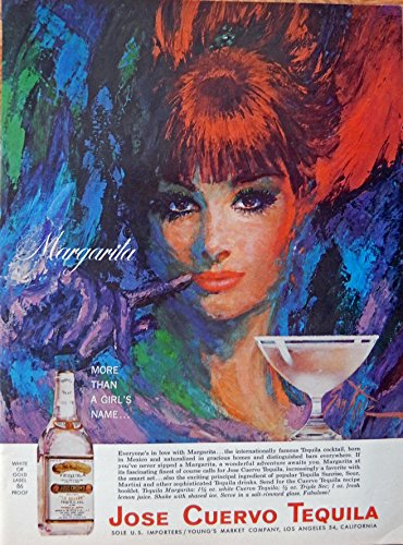 jose-cuervo-tequila-print-ad-color-illustration-more-than-a-girls-name-original-1965-magazine-art