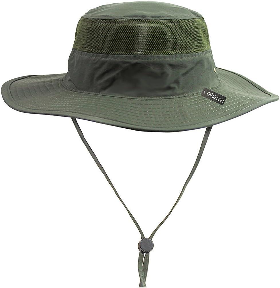 Boonie Bucket Hat Breathable Fish Wild Outdoor Safari Cap Cotton Sun Masraze