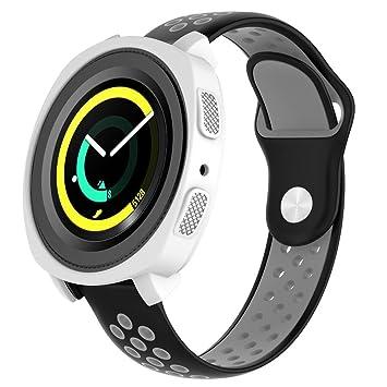 Samsung Gear Sport SM-R600 Smartwatch - Funda Protectora de Silicona para Samsung Gear Sport, Resistente a los Golpes ya los Golpes, para Reloj ...
