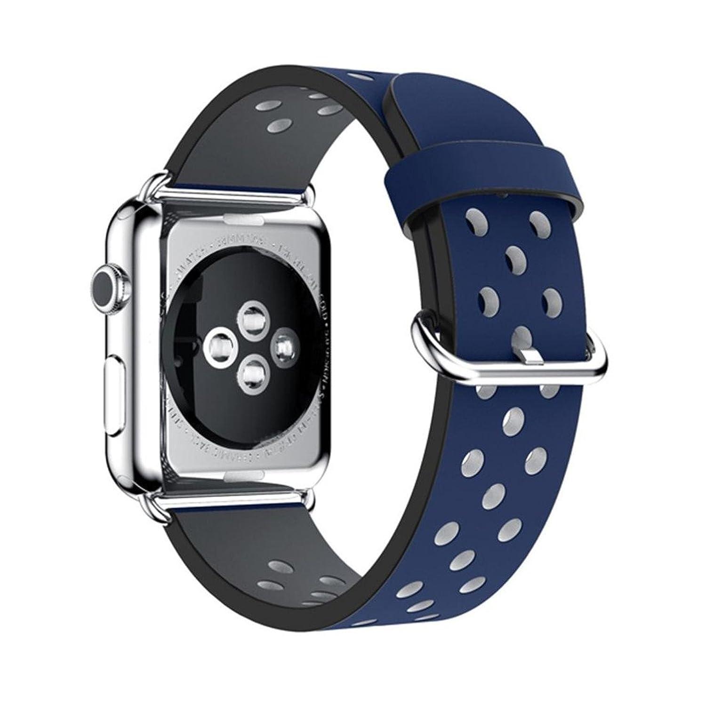 AloneAスポーツレザーブレスレットストラップBand for Apple Watchシリーズ1 / 2 42 mm (ブルー)  B01LXGL7WE