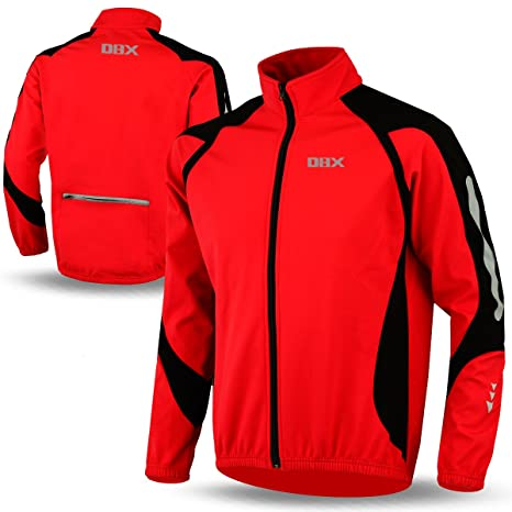 Cycling Jacket Soft Shell Winter Thermal Fleece Windproof Long Sleeve Bike  Coat Red (MEDIUM) 150a2ac28