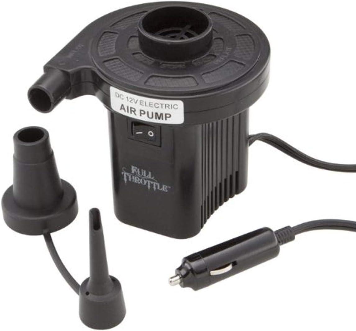 Absolute Outdoor Full Throttle Compact 12V Cigarette Lighter Air Pump (Black)