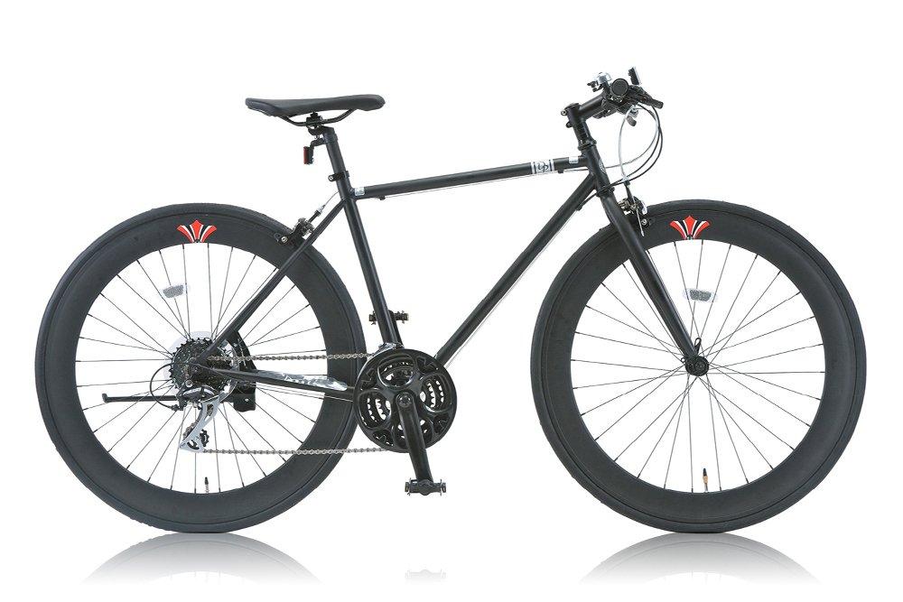 DP780(ディーピー780) 700Cクロスバイク シマノ24段変速 ディープリム DP-724M(480mm) MATT BLACK B00W9O55T6