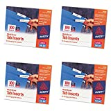 Avery WorkSaver Tab Inserts, 2 Inches, White, 100 Inserts (11136), 4 Packs