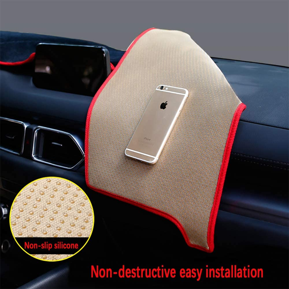 Beerte Black Car Dashboard Center Console Cover Protector Sunshield Cover Dash Mat Pad for Mazda CX5 2017 2018 2019 Flannel
