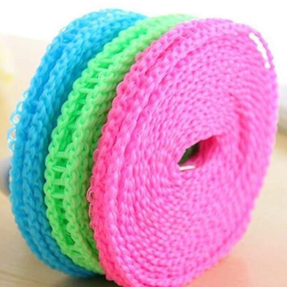 RENNICOCO Portable ClotheslineDrying Cuerda Ajustable para el lavadero Exterior Interior, Percha para Camping Viajes y Uso en el hogar