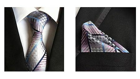 JEAQW Home Corbata de Raya de Tela Escocesa para Hombre Conjuntos ...